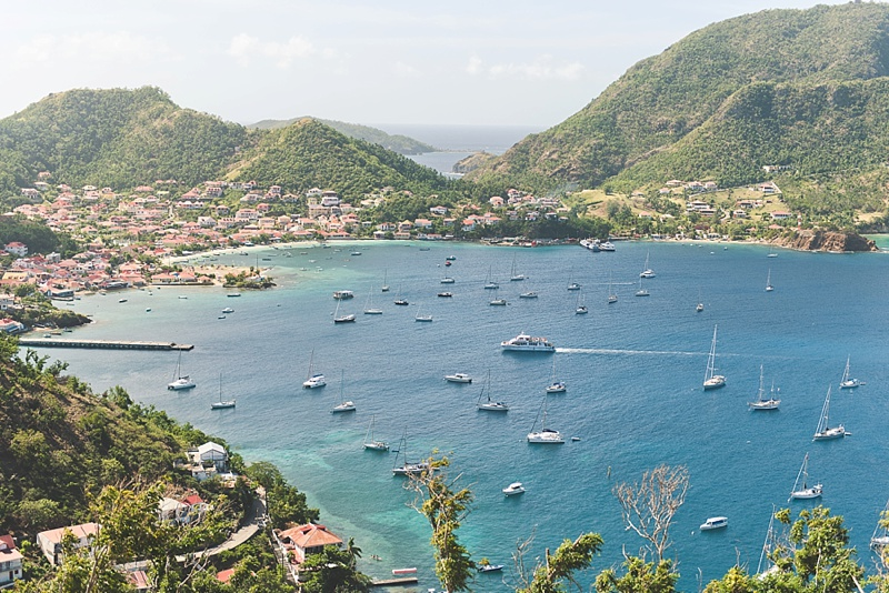 Les Saintes in the Guadeloupe Islands seen from Fort Napoleon