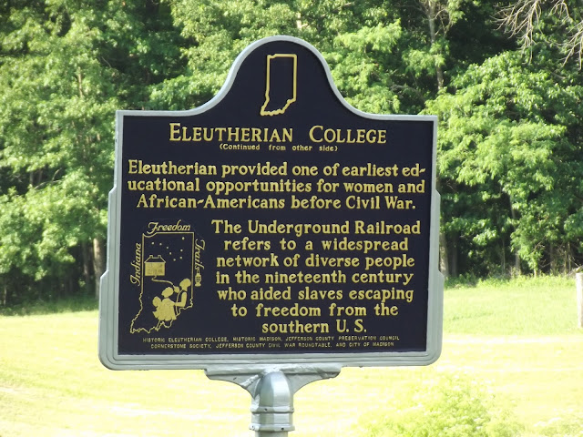 Indiana Historical Marker - Eleutherian College