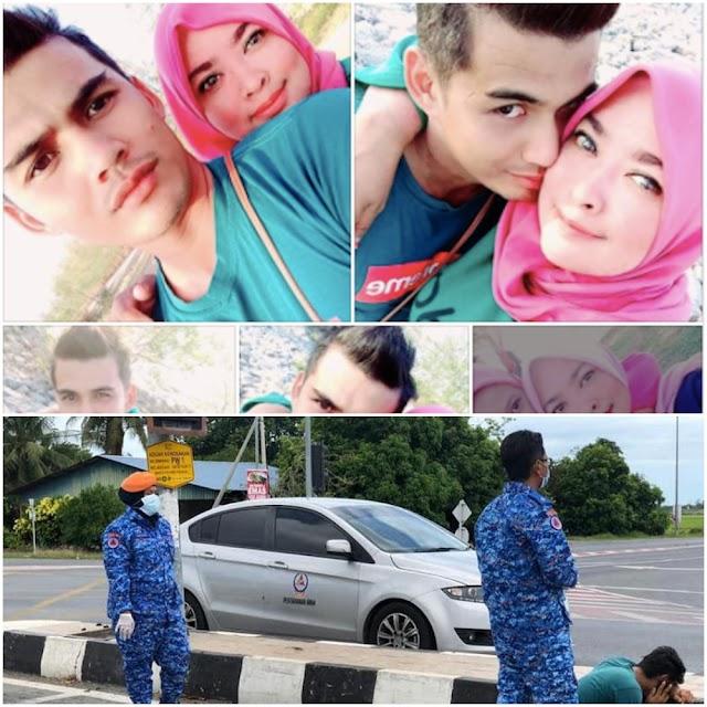 Isteri maut rempuh peronda polis, suami terduduk hiba tepi jenazah