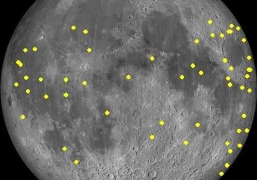 Casi ocho impactos de meteoroides por hora se registra en la luna.