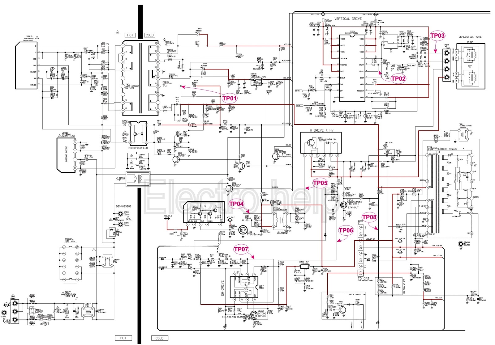medium resolution of ctv smps circuit diagram str x6750f as power switching