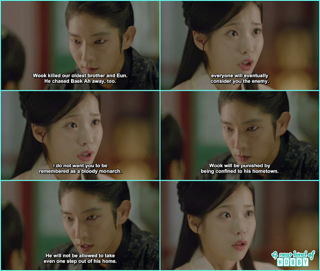 king wang so then told hae so ok i will sent wook to his hometown he can't come back in the palace - Moon Lovers Scarlet Heart Ryeo - Episode 19