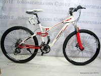 1 Sepeda Gunung Pacific Emerson 606 Full Suspension 21 Speed Shimano 26 Inci