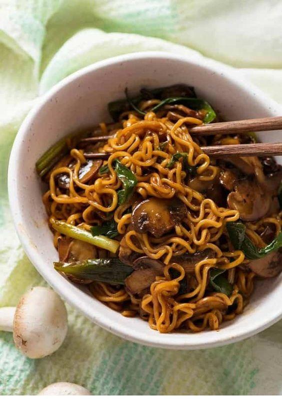 Asian Mushroom Ramen Noodles