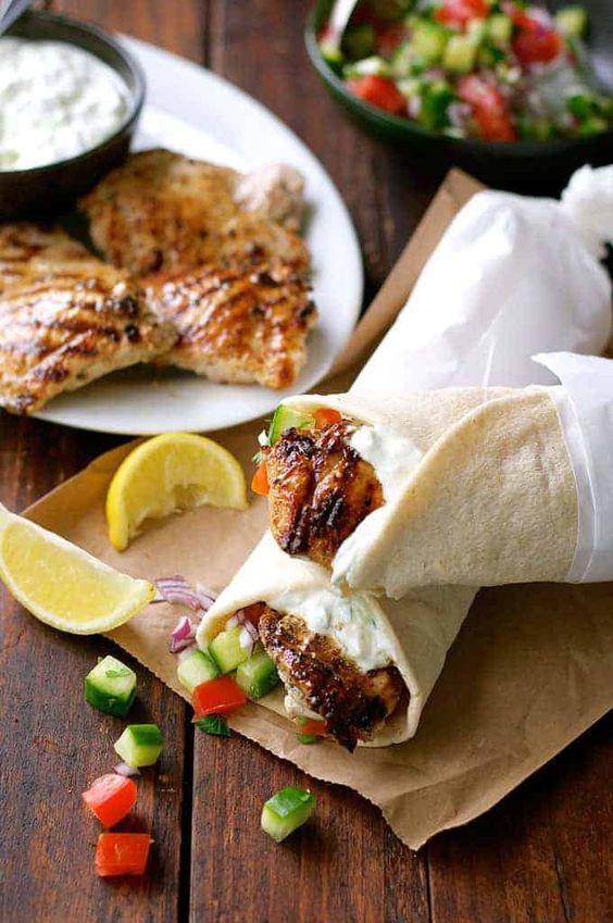Greek Chicken Gyros with Tzatziki #Greek #Chicken #Vegan #Gyros #Tzatziki #Dinnerrecipe #Bestdinner #Goodfood