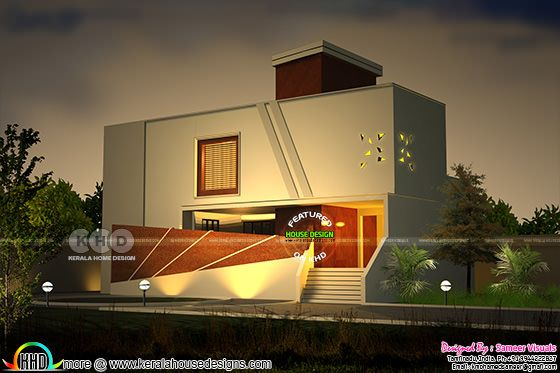 New age house plan by Sameer Visuals