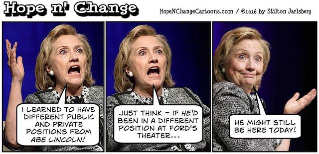 obama, obama jokes, political, humor, cartoon, conservative, hope n' change, hope and change, stilton jarlsberg, debate, hillary, trump, lincoln, positions, wikileaks