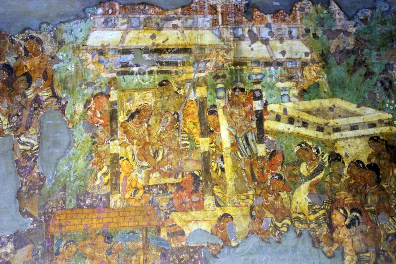 Mahajanaka Painting at cave 1