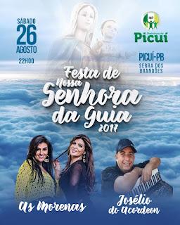 Shows de  As Morenas e  Josélio do Acordeon encerram as festividades da padroeira de Serra dos Brandões