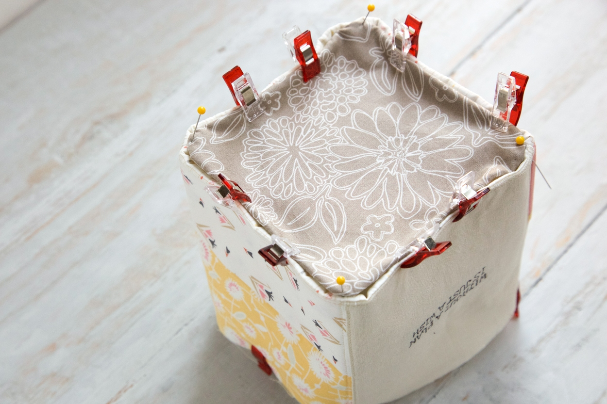 DIY Handmade Storage Fabric Basket Tutorial