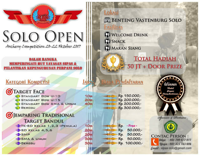 Solo Open Archery Competition. Solo, 20-22 Oktober 2017.