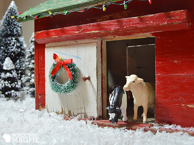toy barn with cows