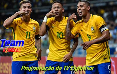 Programação da TV Esportiva ''Sexta'' 12/10/18