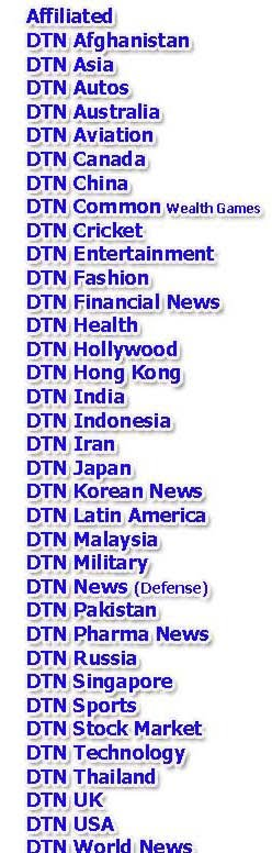 DTN NEWS COMPREHENSIVE LIST