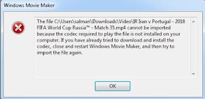 Mengatasi tidak bisa import video ke movie maker