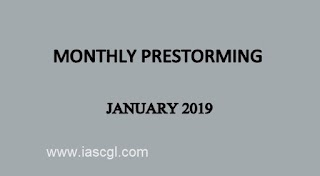 UPSC Monthly Prestorming - January 2019 by iasparliament : Download PDF