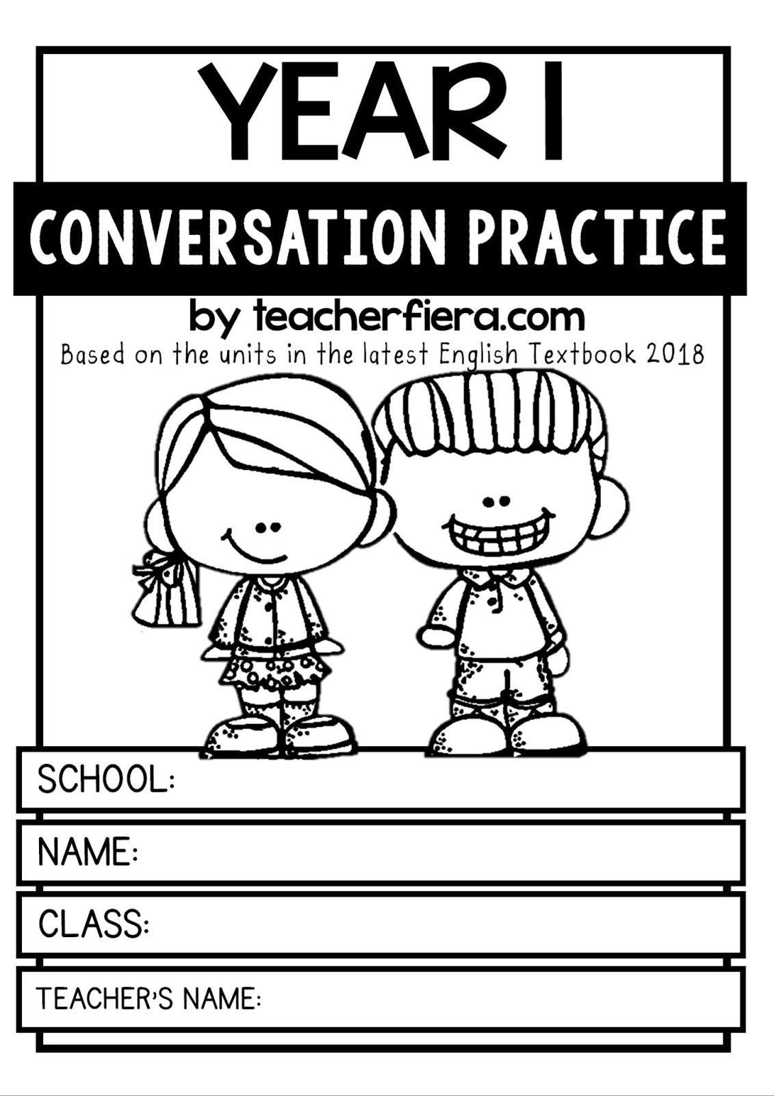 teacherfiera com: YEAR 1 CONVERSATION PRACTICE BASED ON