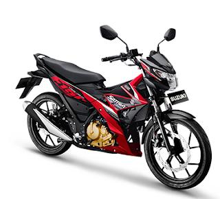 Suzuki Satria F150 Injeksi terbaru merah hitam