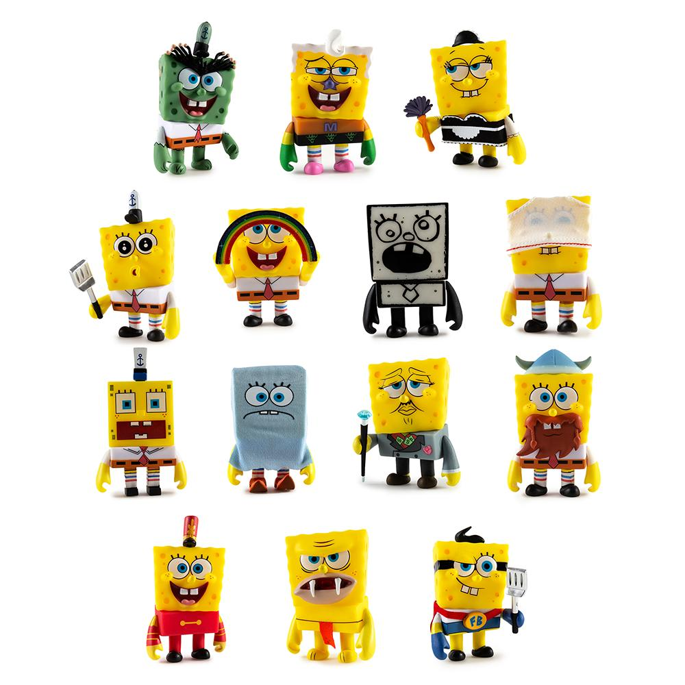 NickALive!: Kidrobot Releases \'Many Faces of SpongeBob\' Mini Series ...