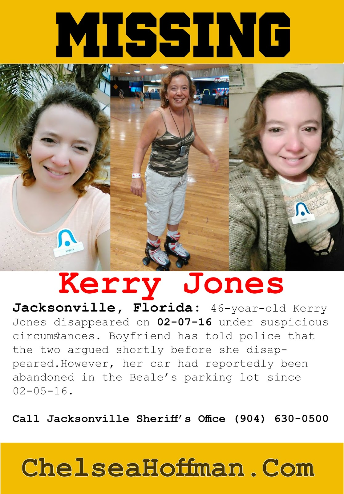 Kerry Jones is still missing