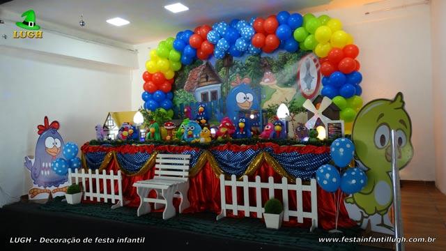 Decoração de festa tema Galinha Pintadinha - Mesa tradicional luxo