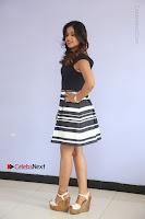 Actress Mi Rathod Pos Black Short Dress at Howrah Bridge Movie Press Meet  0096.JPG