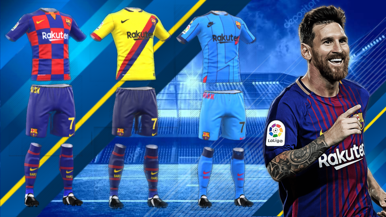 Fc Barcelona All New Kits 2019 for Dream League Soccer 2019