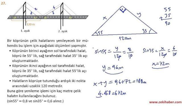 11. Sınıf MEB Yayınları Matematik 71. Sayfa Cevapları