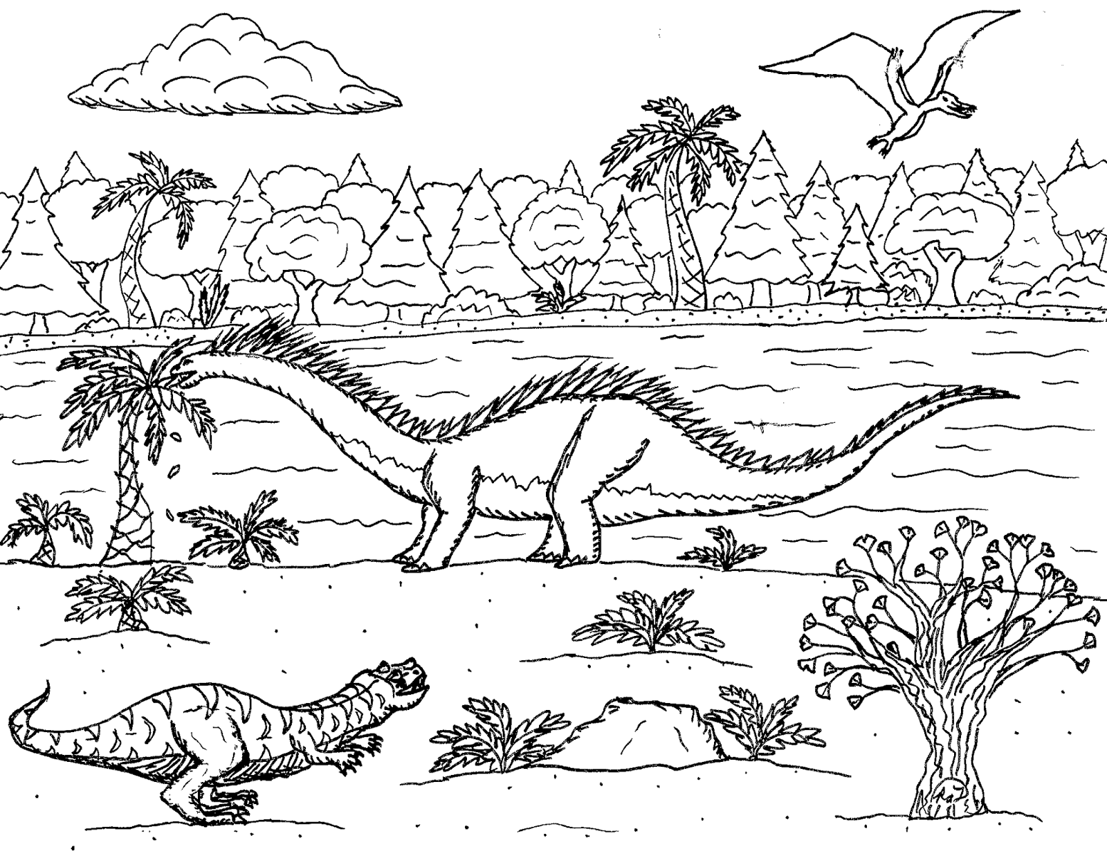 Robin S Great Coloring Pages Amargasaurus The Sauropod With Spines