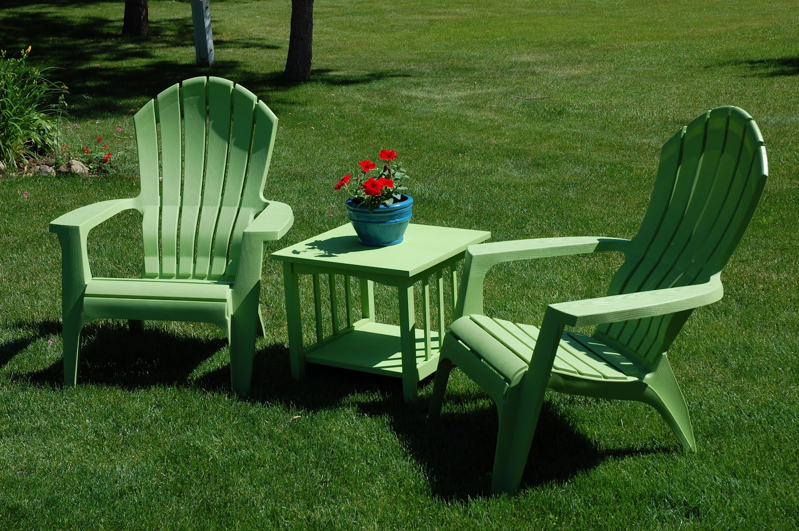 Teal Adirondack Chairs Thomberg Times June 2012
