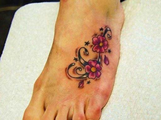 Pequenas flores violeta