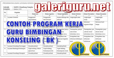 Contoh Program Kerja Gru BK Kurikulum 2013 Terbaru-Galeri Guru
