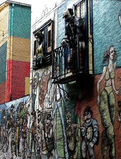 Caminito, em La Boca, Buenos Aires