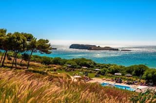 Beach pool with beach beyond, Hotel Martinhal, Portugal