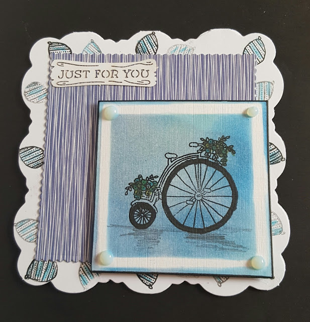 Just for you - Penny Farthing bicycle shaped card