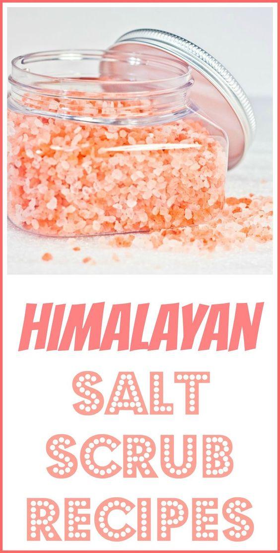HIMALAYAN SALT SCRUB RECIPES