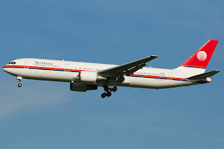 Meridiana jet on approach