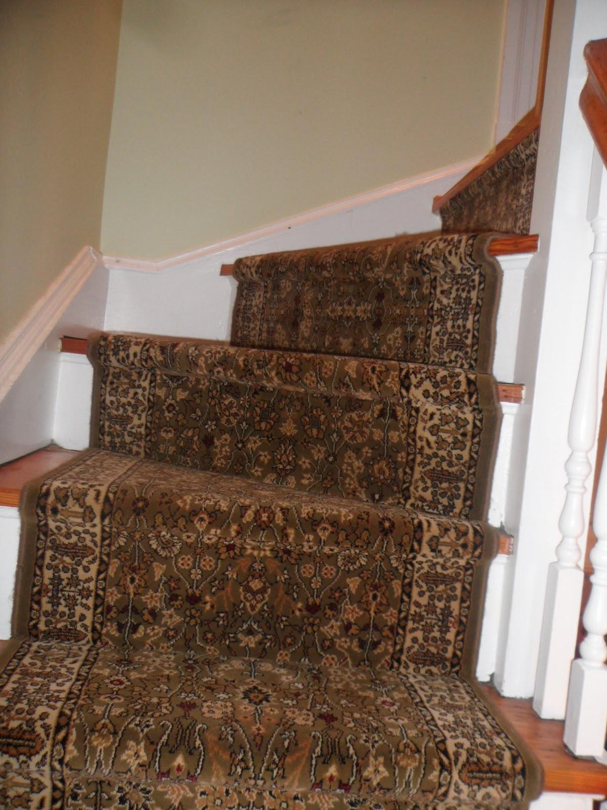 Main Street Oriental Rugs Stair Runner Installation