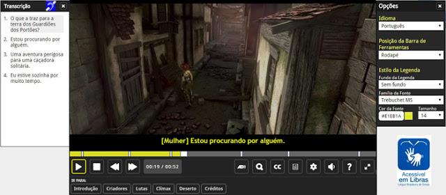 Tela do Facilitas Player