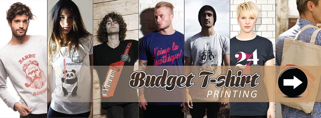 Budget T-shirt Banner
