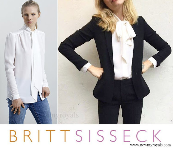 Crown Princess Mary wore Britt Sisseck Silk Shirt