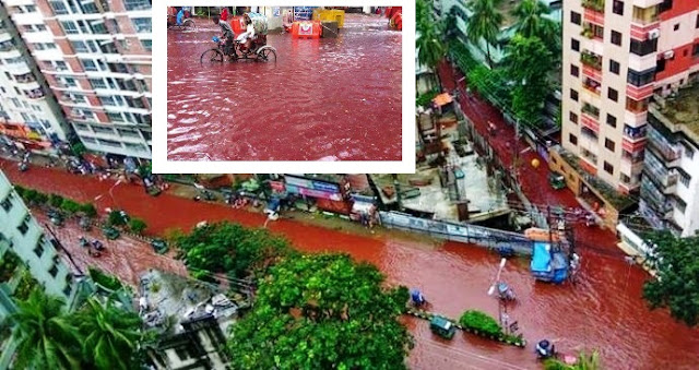 rivers of blood i Dhaka after eid