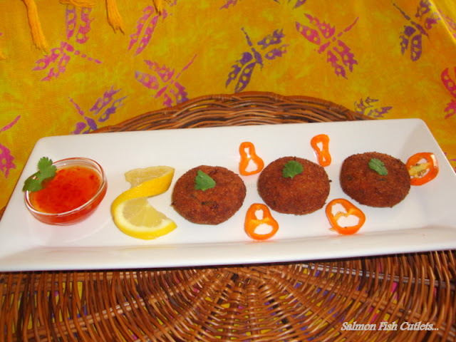 imaghes of Salmon Fish Cutlets / Fish Cutlet Recipe / Fish Tikki Recipe