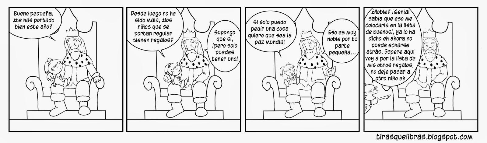 webcomic, Jen entrega su carta a los reyes magos