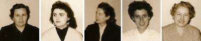 Las ajedrecistas Ángeles Asanza, Maria Lluïsa Puget, Dolors Camats, Maria Llambies y Júlia Maldonado