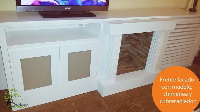 Frente lacado para mueble, chimenea y cubre radiador
