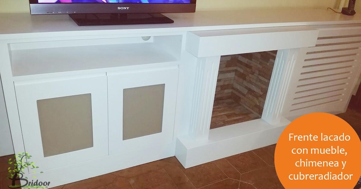 Bridoor s l frente lacado para mueble chimenea y cubre - El mueble chimeneas ...
