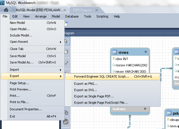 Konversi eer diagram menjadi script mysql di mysql workbench digi zed langkah pertama dalam pembuatan database adalah membuat desain erd istilah eer diagram di mysql workbench mirip dengan erd pada umumnya ccuart Gallery