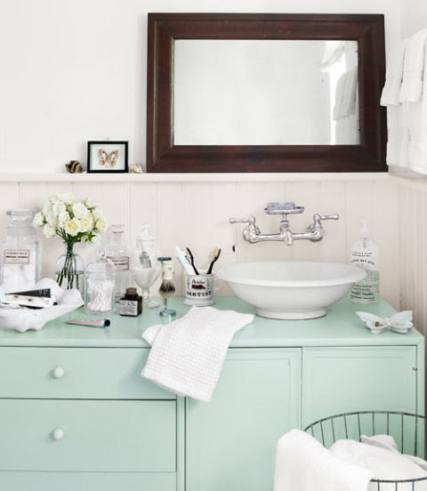 , Home:  Fresh Mint Bathroom Accessories