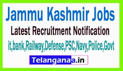 Latest Jammu Kashmir Government Job Notifications